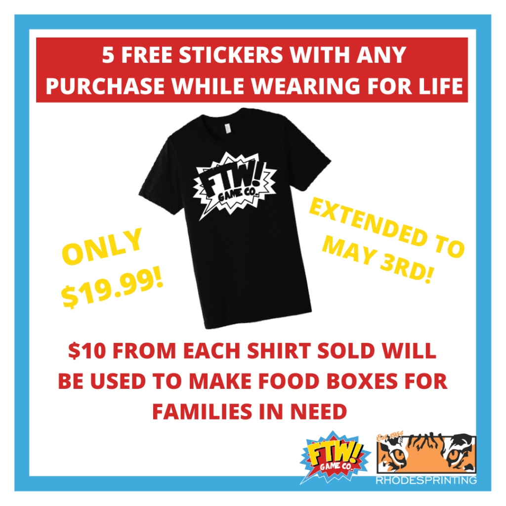 Buy A Shirt—Get Free Stickers for Life!